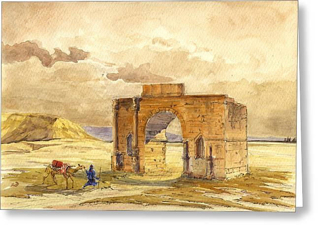 Volubilis Mecknes Ruins Greeting Card by Juan  Bosco