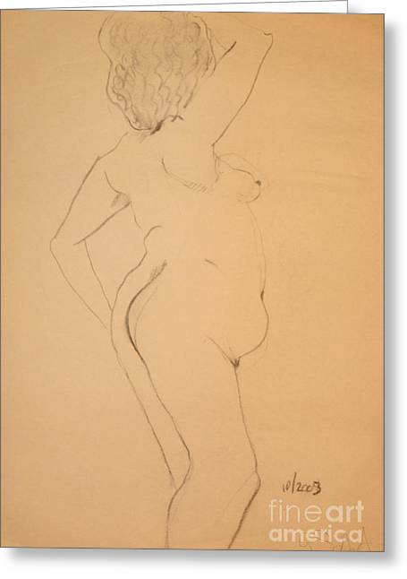 Voluptuous Nude Greeting Card