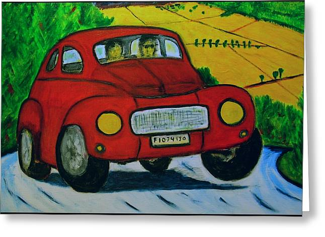 Greeting Card featuring the painting Volvo 1965 by Zeke Nord