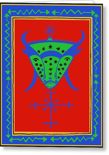 Voodoo Bosou Greeting Card