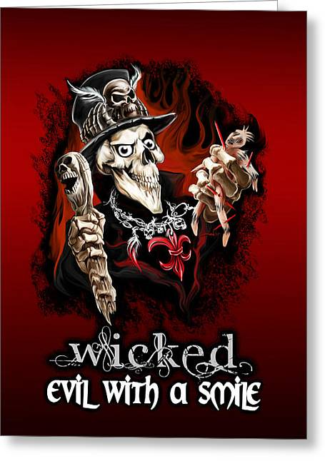 Voodoo Doctor - Evil With A Smile Greeting Card