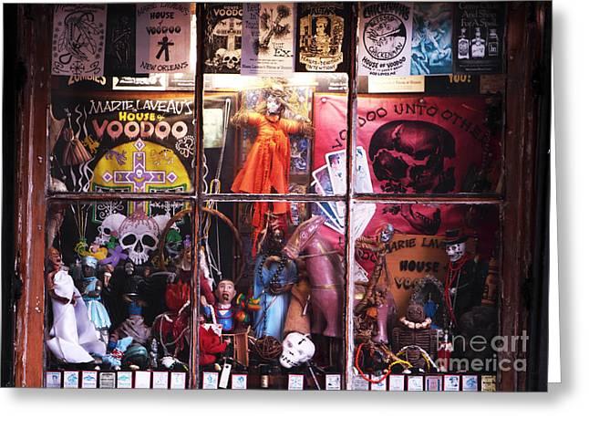 Voodoo Greeting Card by John Rizzuto