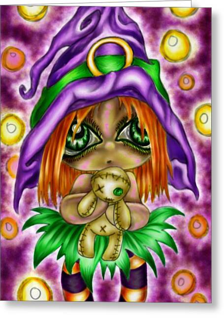 Voodoo Plushie Greeting Card by Coriander  Shea