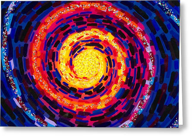 Vortex Greeting Card by Patrick OLeary