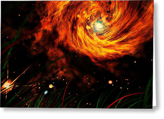 Vortex Greeting Card by Persephone Artworks