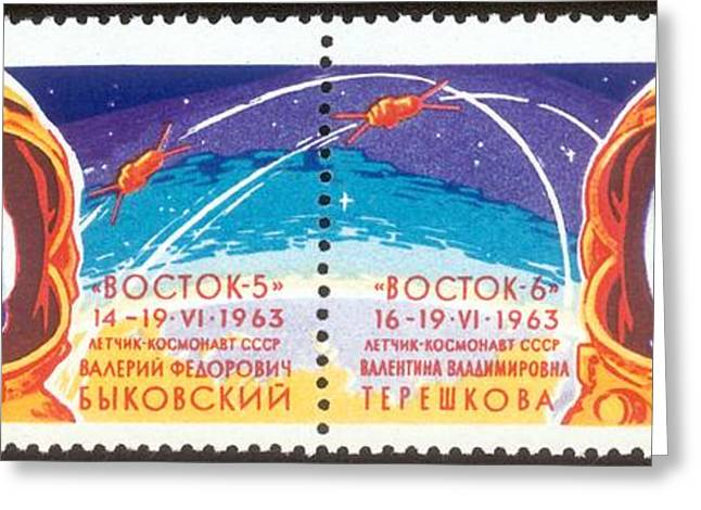 Vostok 5 And 6 Greeting Card