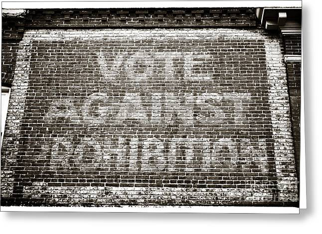 Vote Against Prohibition IIi Greeting Card by John Rizzuto