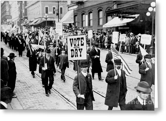 Vote Dry Greeting Card by Jon Neidert