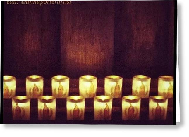 Votive Candles - Notre Dame Cathedral Greeting Card