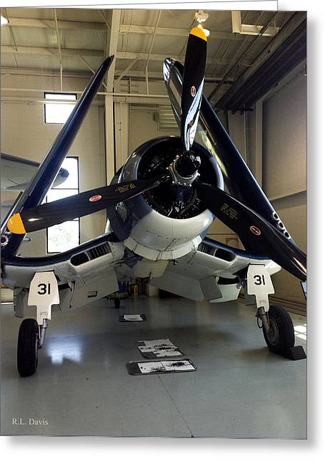 Greeting Card featuring the photograph Vought Fg-1d Corsair by Rebecca Davis