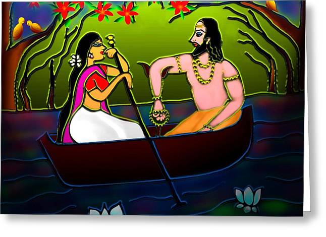 Voyage Greeting Card by Latha Gokuldas Panicker