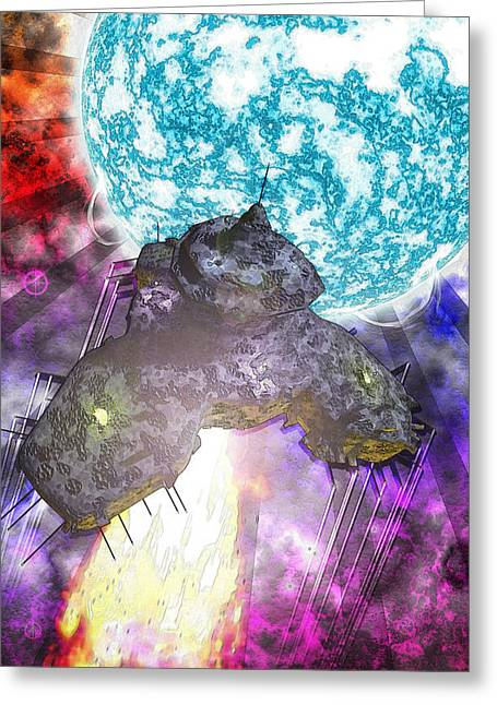 Greeting Card featuring the digital art Voyage by Matt Lindley