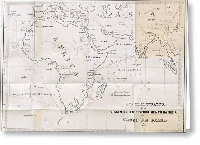 Voyage Of Vasco Da Gama, 1497-98 Greeting Card by British Library