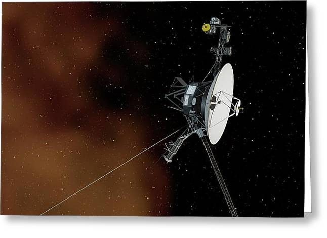 Voyager 1 Greeting Card by Nasa/jpl-caltech