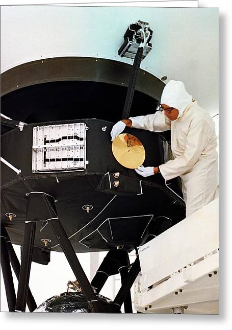 Voyager Disc Installation Greeting Card