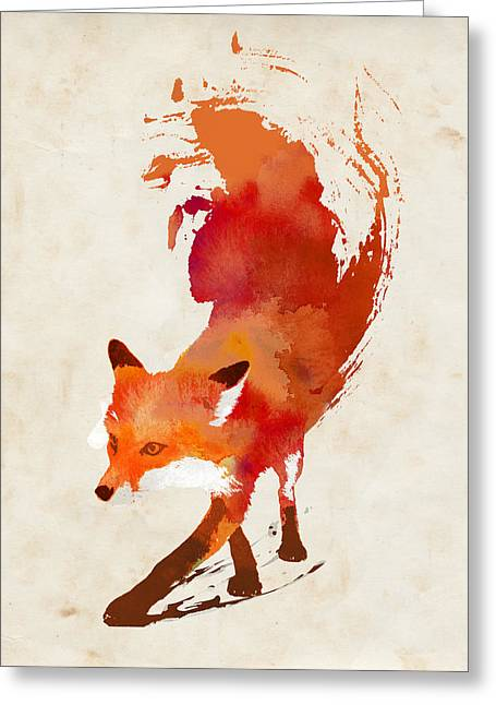 Vulpes Vulpes Greeting Card by Robert Farkas