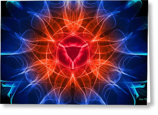 Vulva Heat Greeting Card by Dan Terry