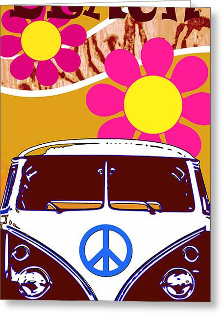 Vw Beach  Tan Greeting Card