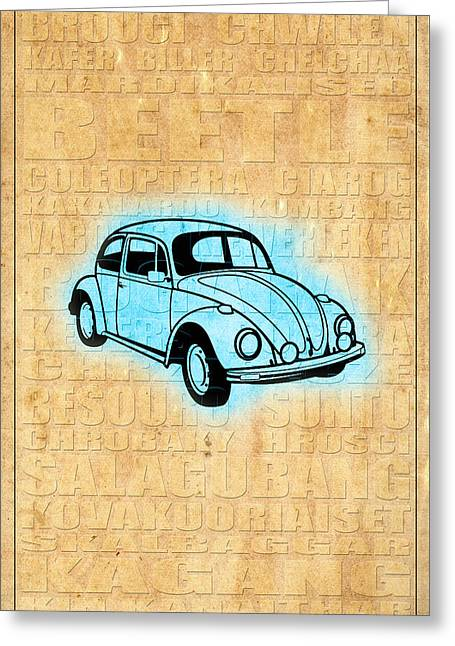 Vw Beetle Greeting Card by Andrew Fare