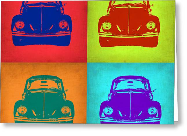 Vw Beetle Pop Art 5 Greeting Card by Naxart Studio