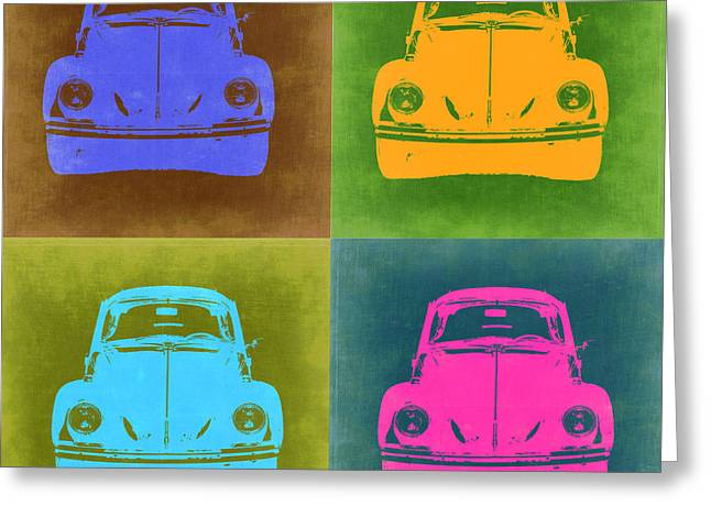 Vw Beetle Pop Art 6 Greeting Card