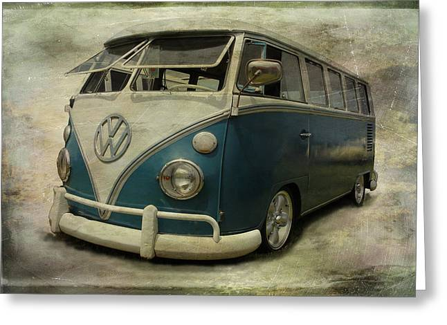 Vw Bus On Display Greeting Card