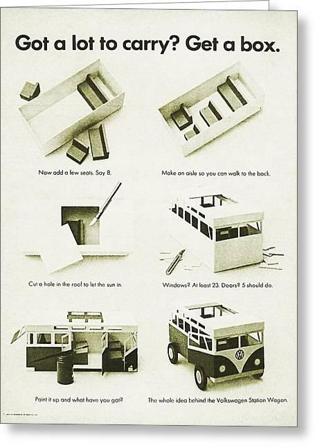 Vw Bus Vintage Advert Greeting Card by Georgia Fowler
