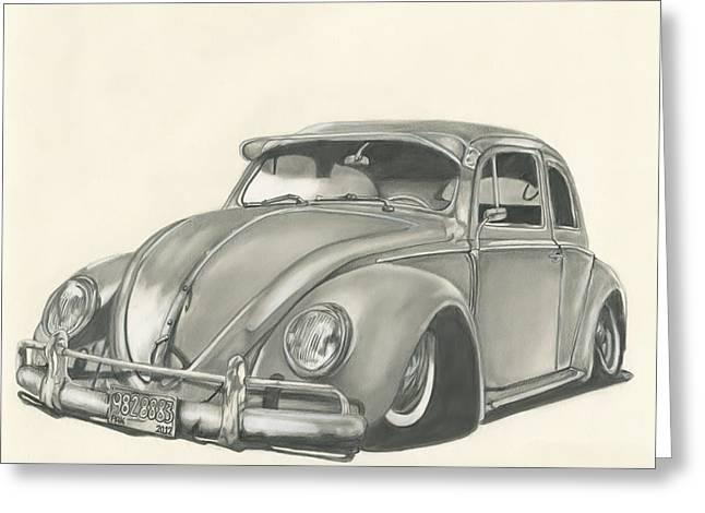 VW Greeting Card by Raquel Ventura