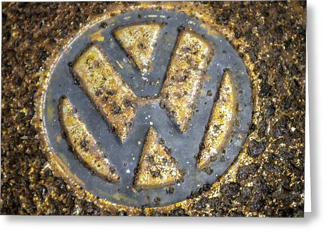 Vw - Volkswagon Hubcap Greeting Card