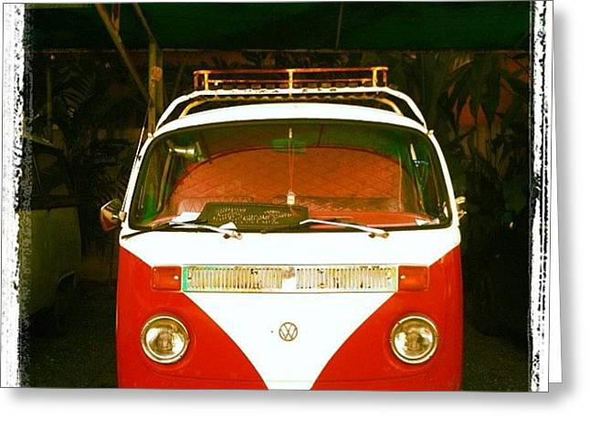 #vw #vwcamper #vwbus #volkswagen #retro Greeting Card