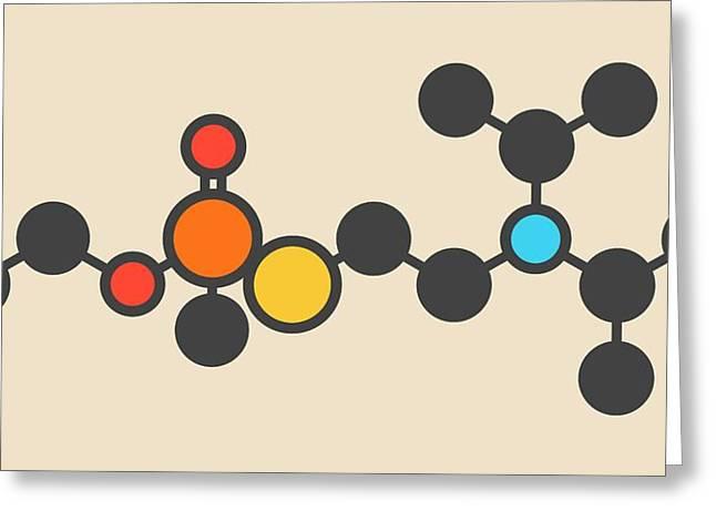 Vx Nerve Agent Molecule Greeting Card by Molekuul