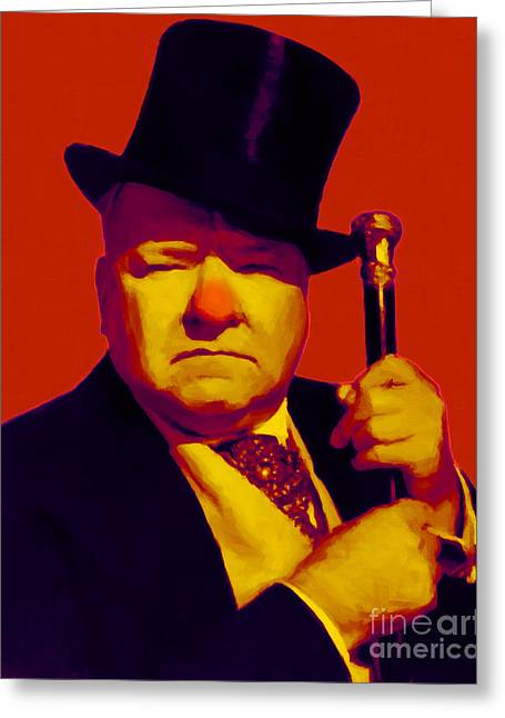 W C Fields 20130217p50 Greeting Card by Wingsdomain Art and Photography