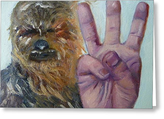 W Is For Wookie Greeting Card by Jessmyne Stephenson