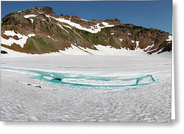 Wa, Goat Rocks Wilderness, Snow And Ice Greeting Card