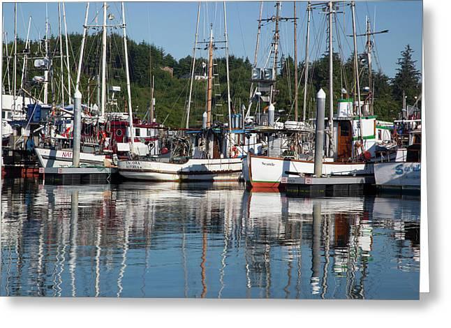 Wa, Ilwaco, Fishing Boats At Port Greeting Card