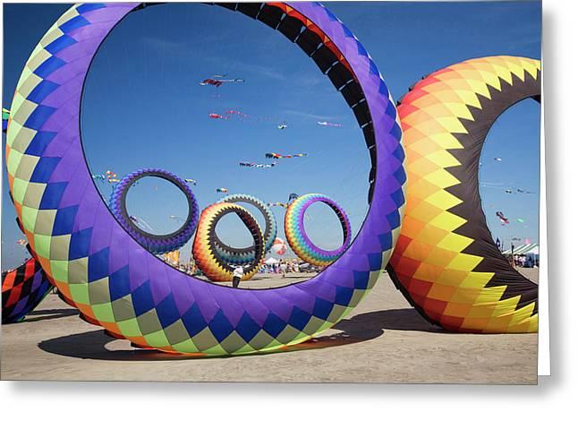 Wa, Long Beach, International Kite Greeting Card by Jamie and Judy Wild
