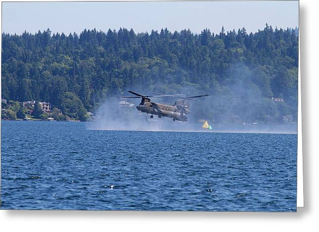 Wa, Seattle, Seafair, Us Army Ch-47 Greeting Card by Jamie and Judy Wild