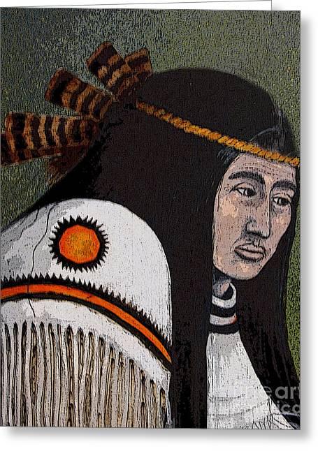 Wabanaki Warrior Greeting Card