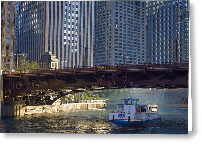 Greeting Card featuring the photograph Wabash Street Bridge by John Hansen