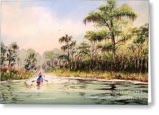Wacissa River  Greeting Card by Bill Holkham