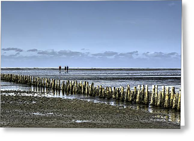 Wadden Sea From The Island Mando Denmark Greeting Card