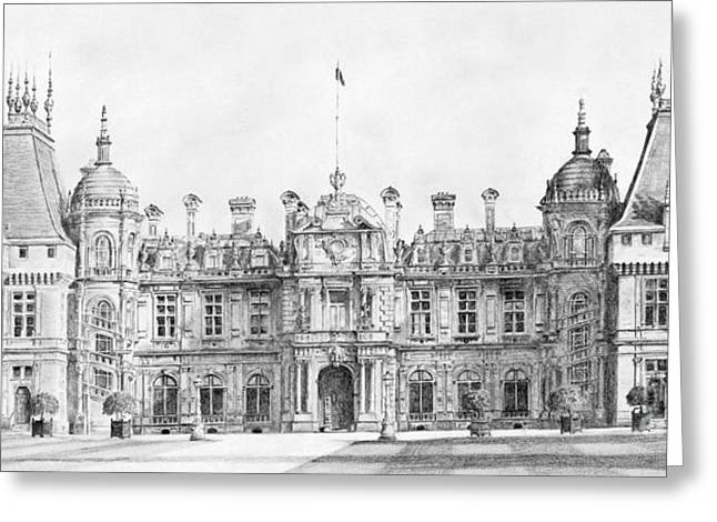 Waddesdon Manor Greeting Card by Stuart Attwell