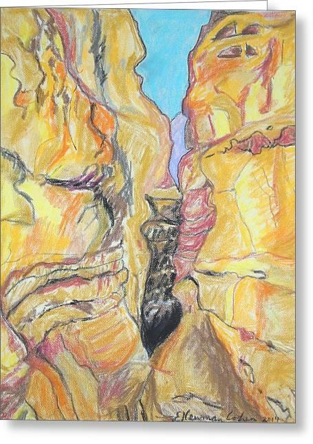 Wadi In The Judean Desert Greeting Card
