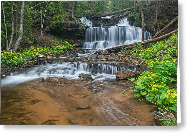 Wagner Falls  Greeting Card