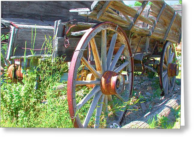 Greeting Card featuring the photograph Wagon by David Armstrong