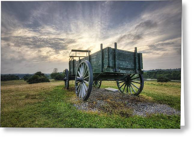Wagon Hill Greeting Card by Eric Gendron