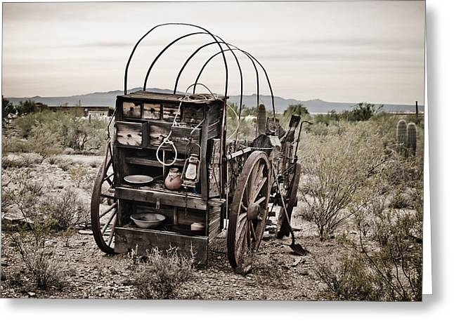 Wagon Greeting Card by Swift Family