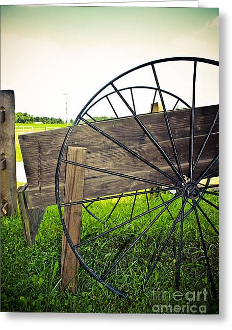 Wagon Wheel Greeting Card by Colleen Kammerer