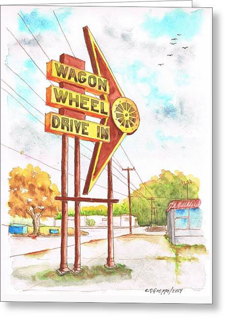 Wagon Wheel Drive In, Big Spring, Texas Greeting Card