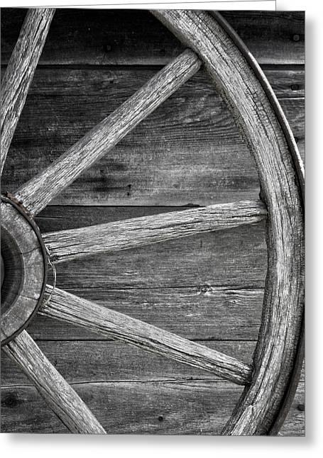 Wagon Wheel  Greeting Card by Empty Wall